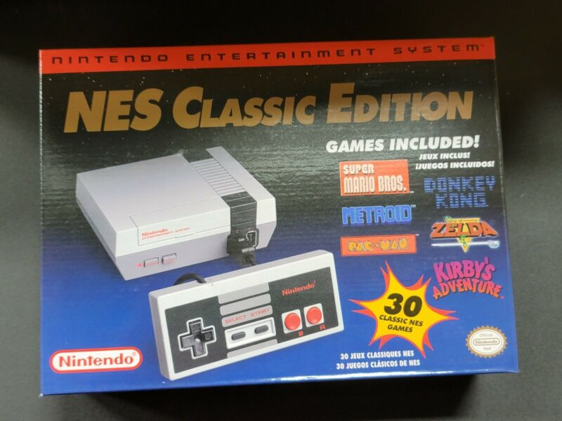Official Nintendo Nes Classic Edition Mini Console System New Box & Controller
