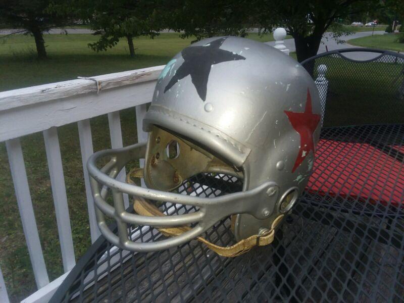 Vintage 1950s MacGregor Football Helmet hand painted Antique Sports