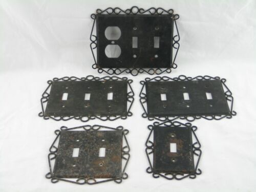 Vintage Metal Switch Plate Covers Lot Used Free Shipping