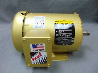 Baldor Reliance Supere Motor Em3456t 1 Hp 208-230460 Volts 3.1-31.5 Amps...