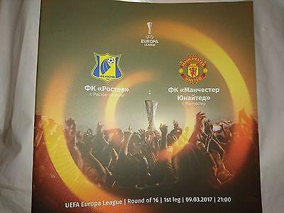 2016/17   FC Rostov    v     Manchester United    MINT