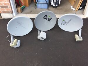 3 Bell TV Dishes 2 HD 1 SD