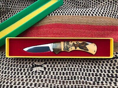 PUMA 4 Star lock blade scrimshaw knife