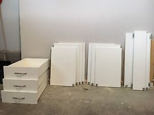 Kitchen cabinet doors with hardware