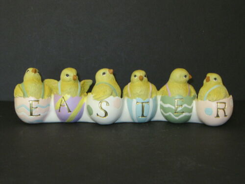Six Hatching Yellow Chicks Spell Easter~Easter Decoration!