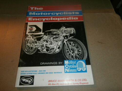 1972 BMS Bruce Main Smith Motorcycle Encyclopedia Book Motor Cycle News