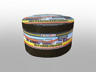 Bitumenband 75 mm x 10 m Schwarz Reparaturband Klebeband Dachrinne ALU ()