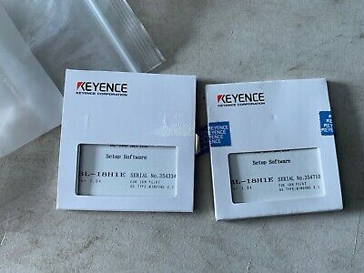 Two 2 Genuine Keyence Bl-18h1e Bl-180 Setup Software Disks Nos