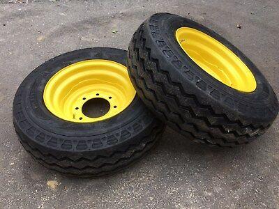 2 New Hd Camso 11l-16 Backhoe Tireswheelsrims-f3 12 Ply Rating-11l-16sl-11lx16