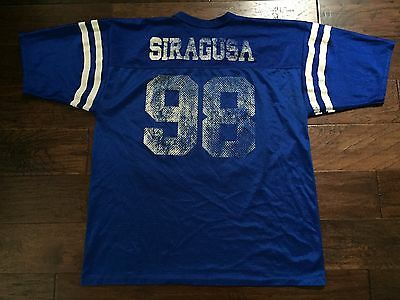 Logo 7 Athletic TONY SIRAGUSA Jersey Indianapolis Colts LARGE #98 VTG L Rare