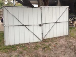 Steel Frame Colourbond Clad Pair of Gates