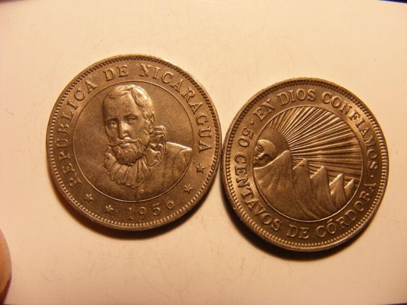 Nicaragua 50 Centavos, 1954, Uncirculated