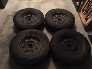 Ford Ranger Winter Tires 225/75/R15 and 15 Inch Rims (4)
