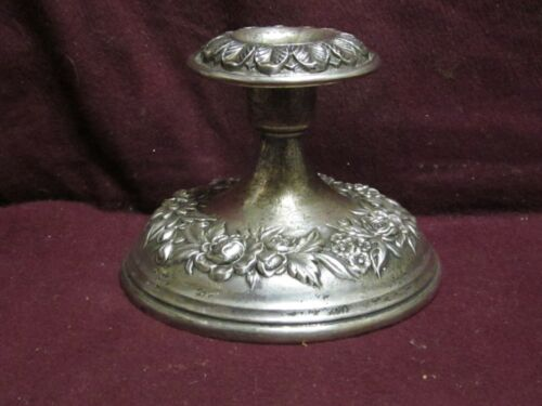"""S. Kirk & Son Sterling REPOUSSE CANDLE STICK 3 1/2"""" X 4"""" 109F  No Monogram"""