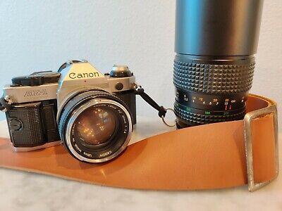 Canon AE-1 Program 35MM SLR Camera Kit, 50mm f1.4 Lens, 80-200mm Telephoto