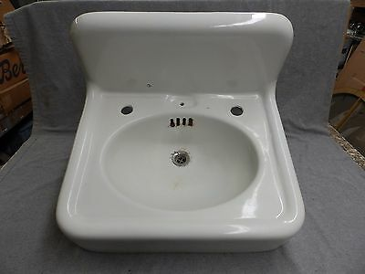 Antique Cast Iron White Porcelain Sink Old Vintage Bathroom Plumbing 486-16