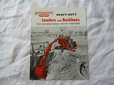 International Wagner Heavy Duty Loader Backhoe Brochure For Utility Tractors