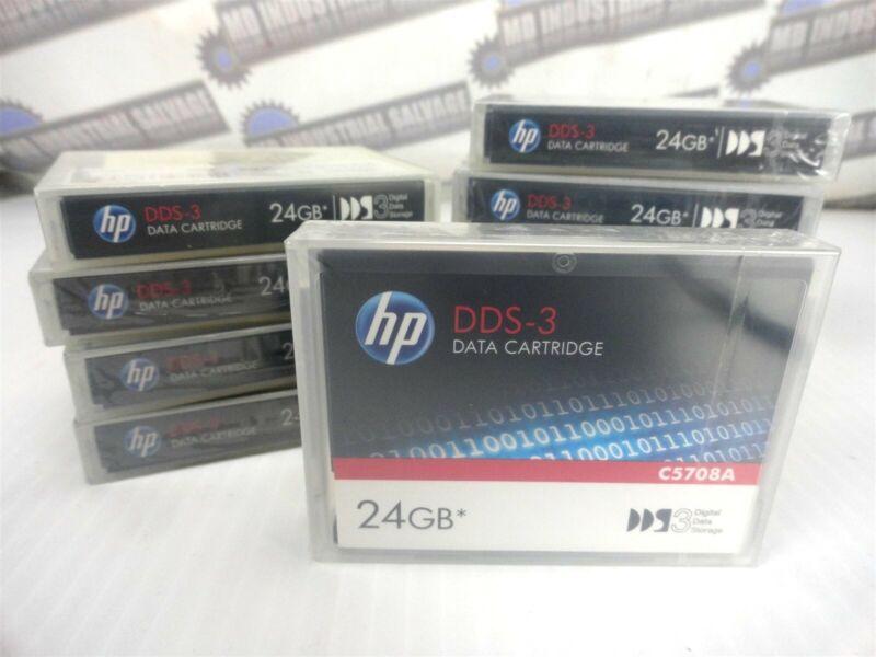 (Box of 10) HP C5708A DDS-3 / 12GB Native, 24GB Compressed DATA CARTRIDGE (NEW)