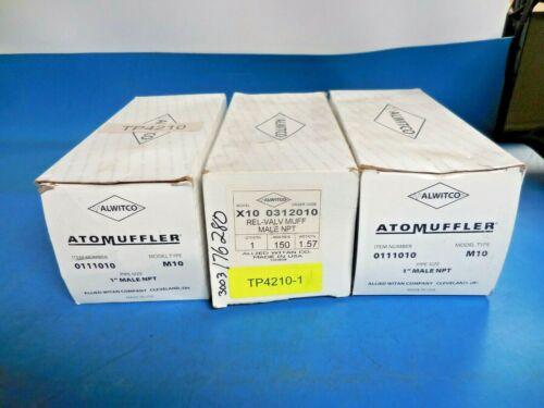 Alwitco ATOMuffler M10 011101 Exhaust & X10 0312010 Relief Valve Muffler (3pcs)