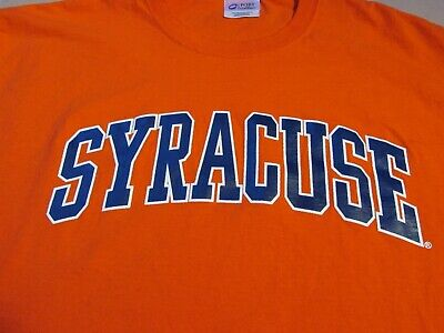 - 915- SYRACUSE UNIVERSITY Men's Graphic T-Shirt, Orange Sz XL
