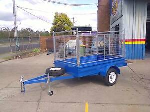 8X5 HEAVY DUTY BOX TRAILER, HIGH CAGE, RACKS, MOWING, NEW Thorneside Redland Area Preview