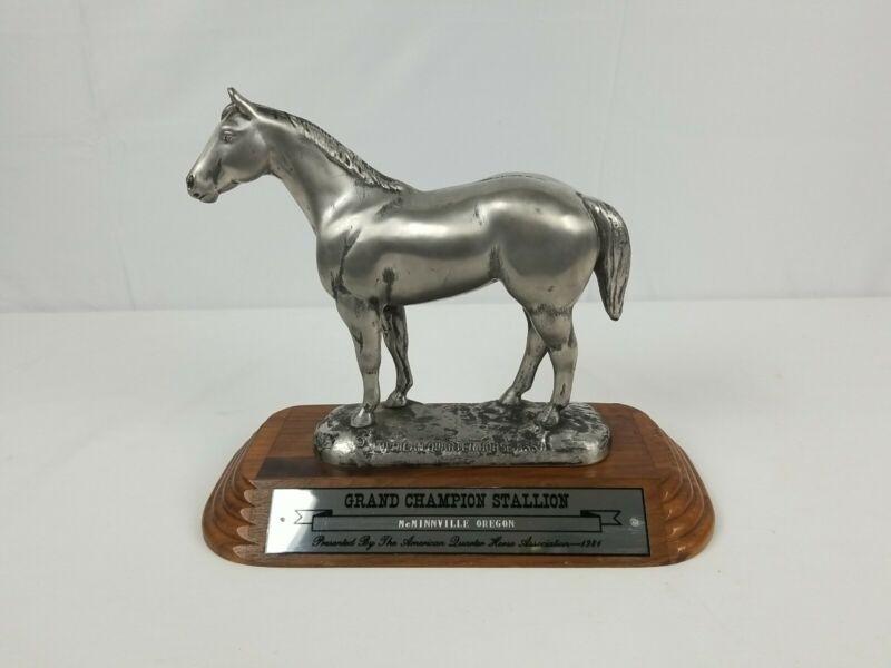 American Quarter Horse Association Trophy 1981 McMinnville Oregon Grand Champion