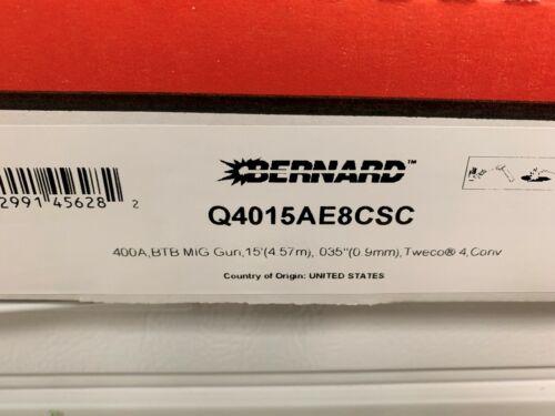 Bernard Q4015AE8CSC 400AMP 15ft Tweco #4