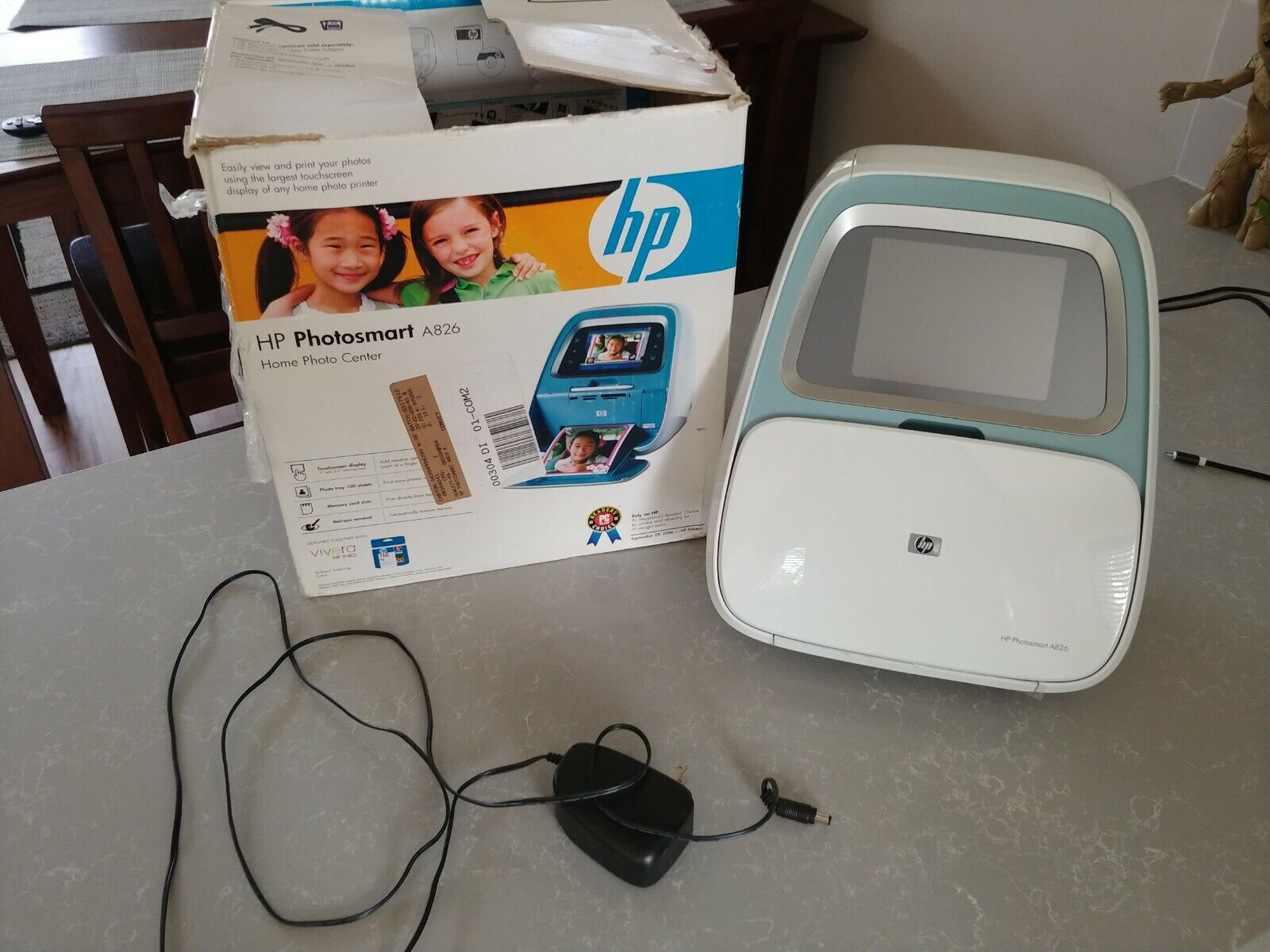 HP Photosmart A826 Digital Photo Inkjet Printer Home Photo Center - $34.99