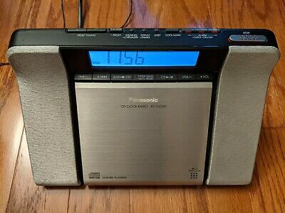 Panasonic RC-CD350 Clock Radio with CD Player, AM/FM + Weather Band Radio, LCD