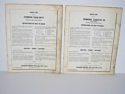 2 1968/70 Evinrude Snowmobile & Accessories Sales Brochure Price List Catalog