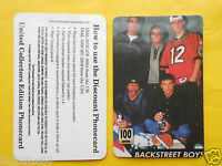 1998 Phone Cards 100 Units Backstreet Boys Schede Telefoniche 1998 Telefonkarten -  - ebay.it