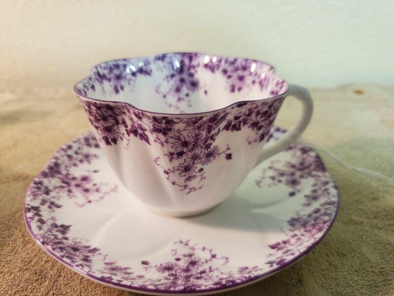Shelley Dainty Mauve tea cup 051/M purple
