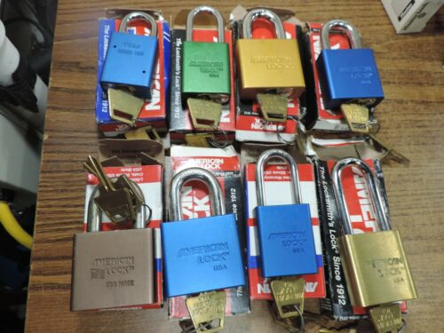 8 American Lock Padlocks Mixed Old Stock Banged up boxes