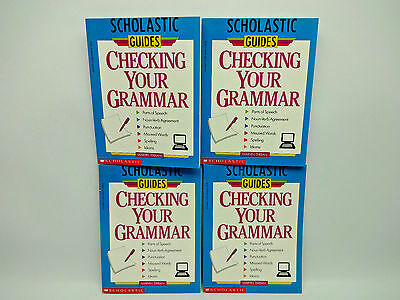 Lot Of 4 Copies Checking Your Grammar By Marvin Terban Paperback 1993