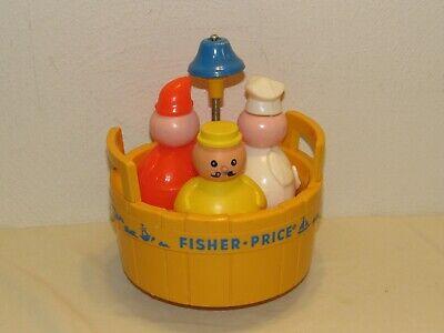 Vintage 1970 Fisher-Price 3 MEN IN A TUB Toy - Butcher Baker Candlestick Maker
