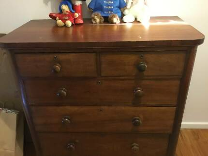 Tall Boy Chest Of Drawers Solid Cedar Hardwood