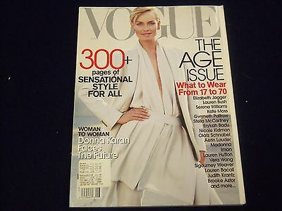 2001 August Vogue Magazine   Amber Valletta   Fashion   Great Photos   F 4092