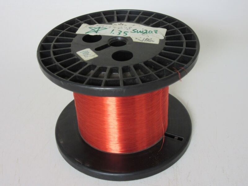 35 AWG  1.35 lbs. Phelps HNYLZ155 Enamel Coated Copper Magnet Wire