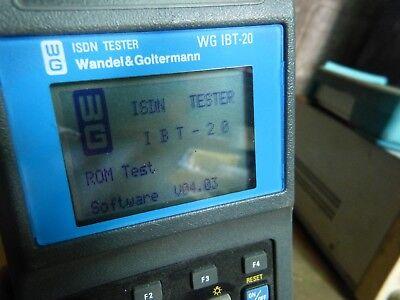 Wandel Goltermann Isdn Tester Wg Ibt-20