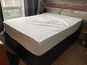 Windham Queen Mattress & Matching Brimmes IKEA Frame w Storage