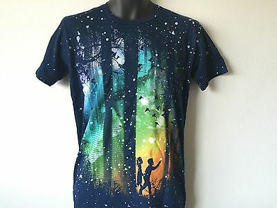 Color Run T Shirt (Design By Humans Born to Run By Radiomode Colorful Forest Men's T Shirt)