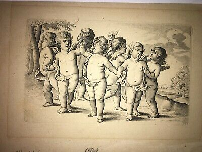 Putti - Antiquities 1525-1540 Engraved prints est: after Riamondi  2 Lot