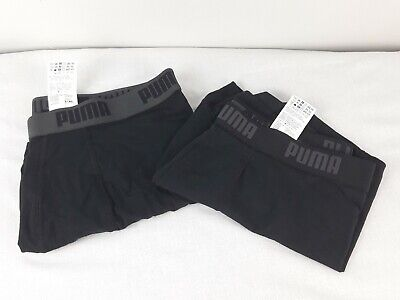 Puma Mens 2-Pack Basic Underwear Black Cotton Stretch Boxer Shorts Boxer Briefs