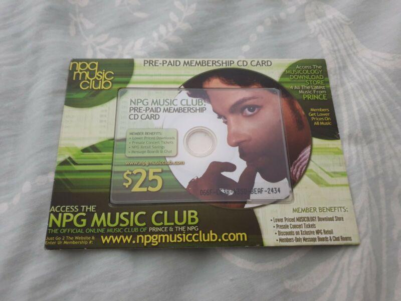 *Prince Symbol NPG Music Club Membership Card Tour Ultra Rare*