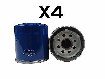 4X Oil Filter fits Z663 CHRYSLER HOLDEN Commodore Statesman JEEP SUZUKI WCO68