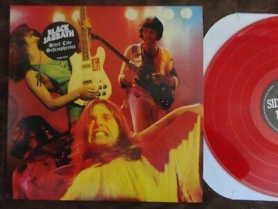 Black Sabbath Steel City Schizophrenia Lp Red Vinyl 100 Made Ozzy Osbourne Mint