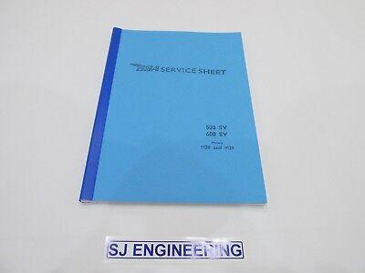 BSA M20 M21 WORKSHOP INSTRUCTION USER MANUAL  1948 - 1963 ALL MODELS SJ067