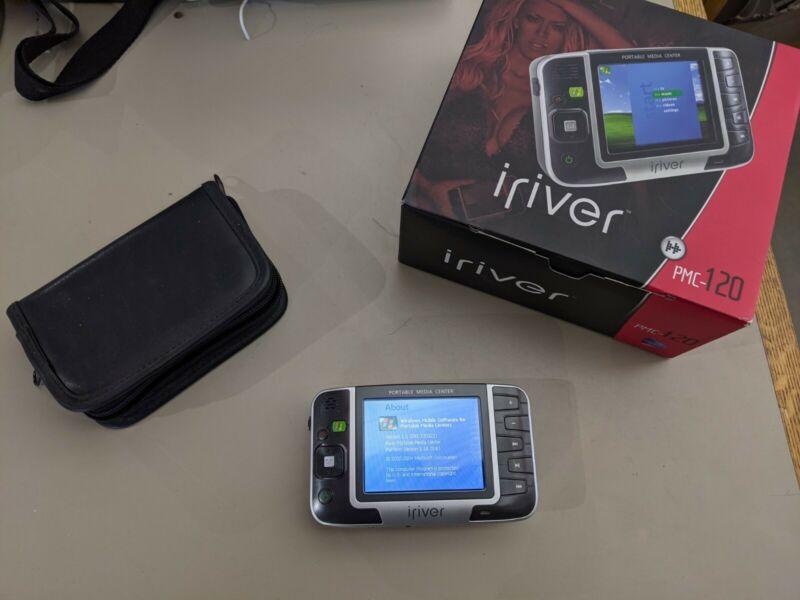 Iriver PMC120 20GB Portable Media Center Windows Mobile Movies TV Music W/ Case