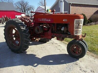 Farmall 400 Ih Tractor Runs Good Live Pto 2pt Fasthitch W Side Cylinder Goodta