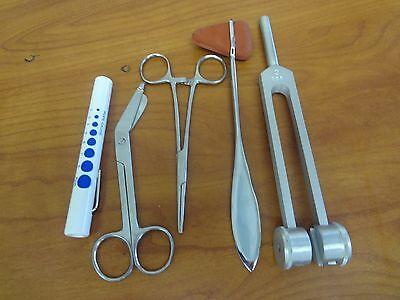 5 Piece S.s Medical Kit Diagnostic Emt Nursing Surgical Ems Student Paramedic